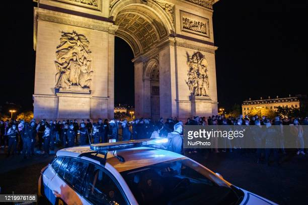 On 13 June 2020 in Paris Frane on the evening of the same day of the protest of anti racismang against the violence and brutality police the police...