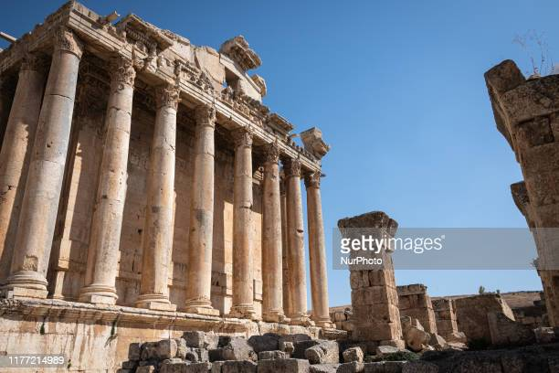 On 13 October the Temple of Bacchus stands in the archeological site and Roman ruins of Baalbek an ancient city and tourist attraction in Lebanon...