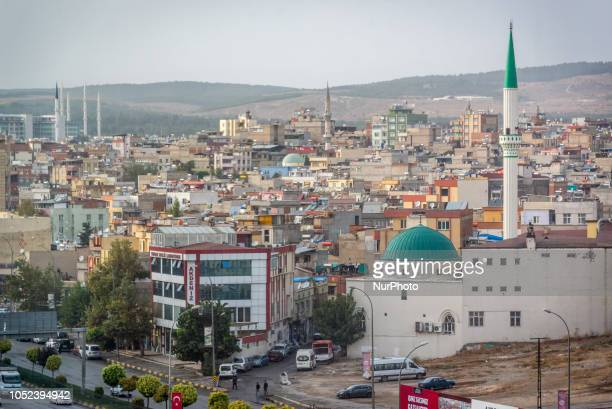On 17 Oct 2018 pedestrians walk by a mosque in Gaziantep a city in southern Turkey