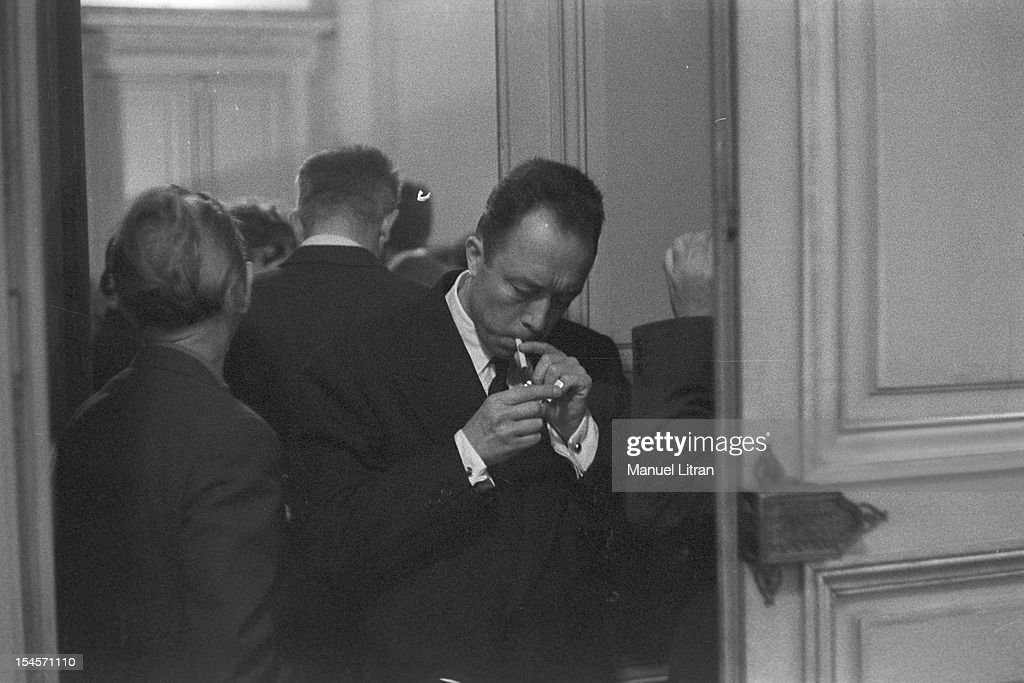 On 17 October 1957 The Writer Albert Camus Receives Nobel Prize For Literature That
