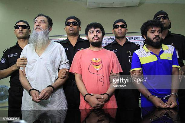 DHAKA BANGLADESH on 18th August 2015 RAB has nabbed three men they say are involved with the radical Ansarullah Bangla Team and responsible for...