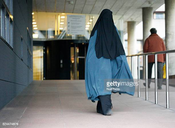 On 1st December 2014 in Hague Netherlands people are seen arriving and leaving the court where seven young men are being accused of recruiting young...