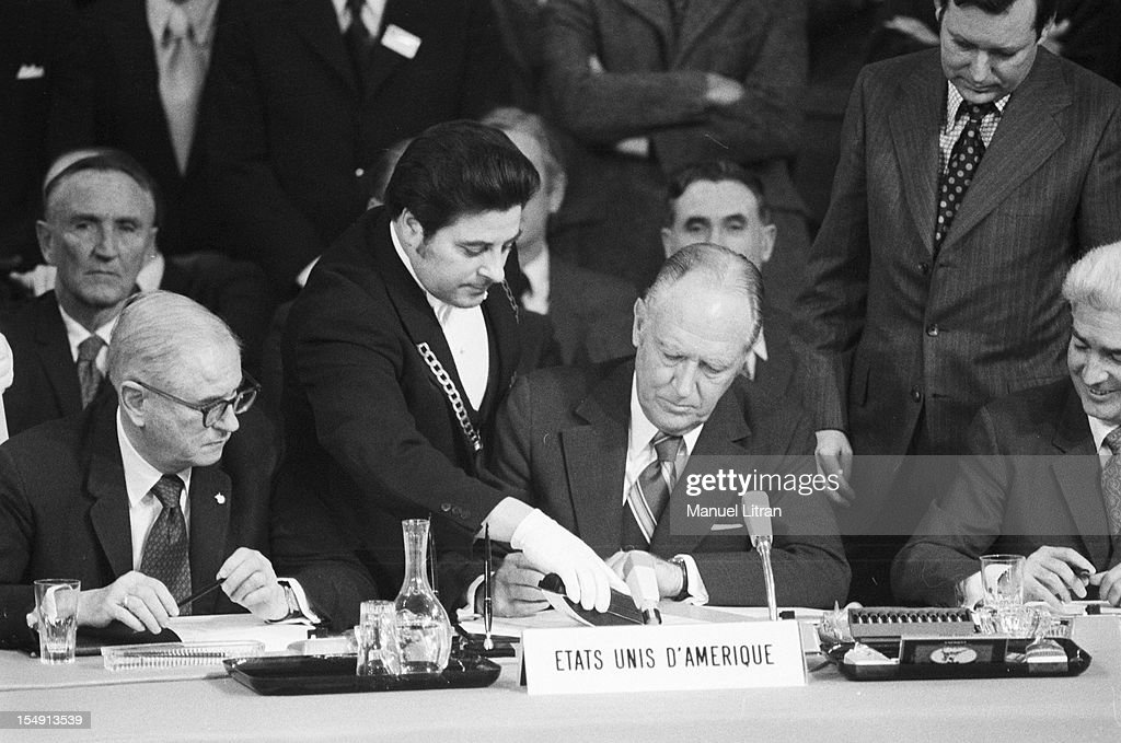Signature Of Paris Peace Accords 1973 Pictures Getty Images