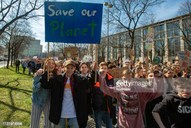 On 2232019 10002000 young people protested in Munich against climate change and for the protection of the environment