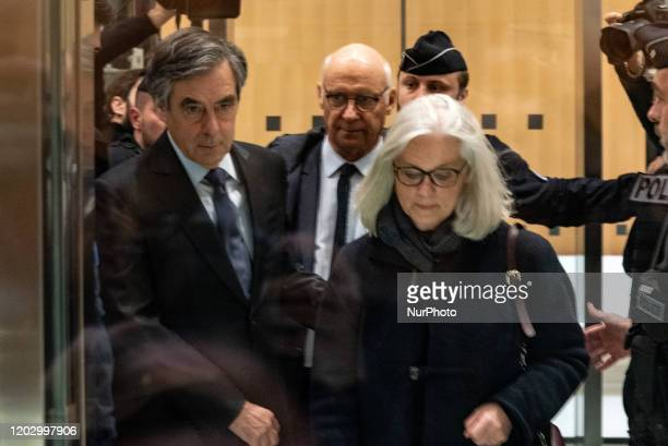 On 24 February 2020 François Fillon and his wife Penelope Fillon arrived at the Tribunal de Grande Instance in Paris for the first day of hearings in...