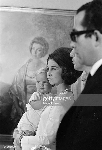 On 24 July 1969 at the Palace of Cortes in Madrid Spain in front of a portrait painting of Sophie OF GREECE the wife of Prince Juan Carlos of Spain...