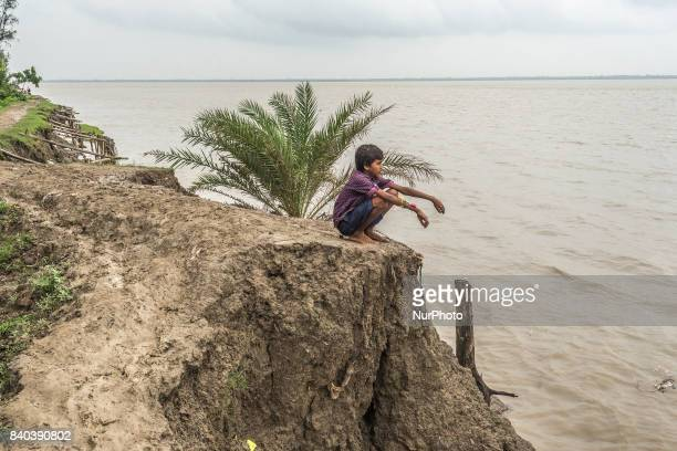 On 28 August 2017 in Ghoramara India Due to this breaking river bank problem the villagers are forced to leave their own home shift to a safer place...