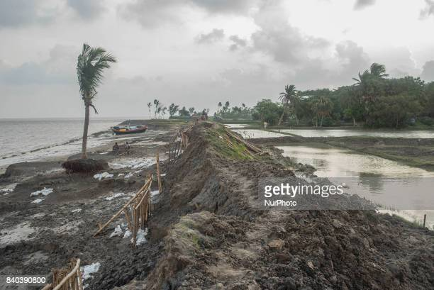 On 28 August 2017 in Ghoramara India The broken barrage over the river is almost unable to resist the water during high tide which causes ghoramara...