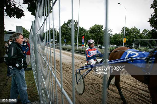 on 28th July 2015 During the yearly horsemarket horse cart racing takes place on a makeshift course in the centre of town Sand is layed on top of...