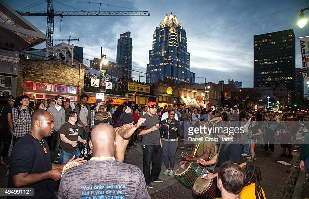 On 6th street downtown Austin, Texas for SXSW 2014, this was Friday evening.