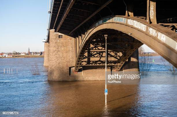 On 7th January 2018 Nijmegen The Netherlands Flood plains along the banks of the Rhine and other major rivers are expected to be under water in...