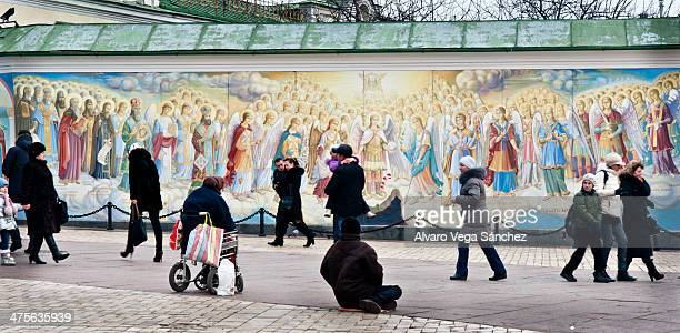 CONTENT] On 7th January the day of the Orthodox Christmas plenty of believers flock into the St Michael GoldenDomed Monastery in Kiev for prayer They...
