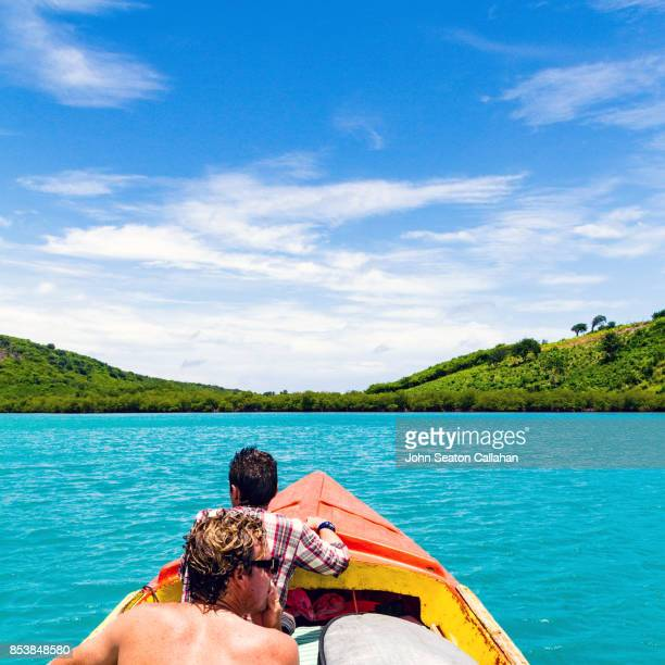 On a Boat in the Caribbean Sea