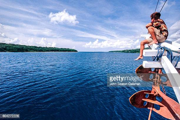 On a Boat in the Mentawai Islands
