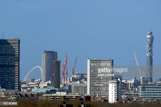 On a clear day, Wembley Stadium, Centre Point, Tate Modern and the BT Tower amongst the features on the London Skyline in this shot taken from...