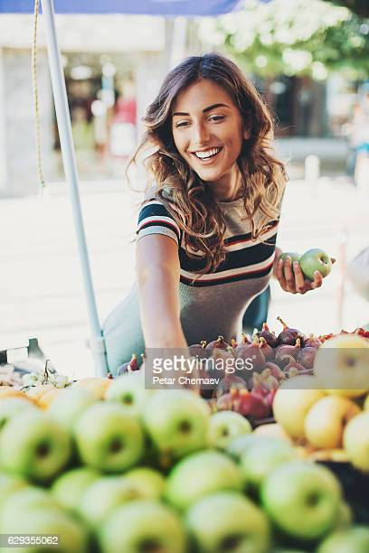 on a diet - apple fruit stock photos and pictures