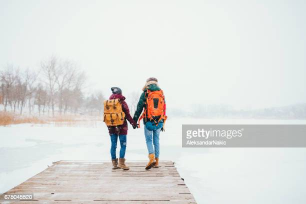 On a frozen lake