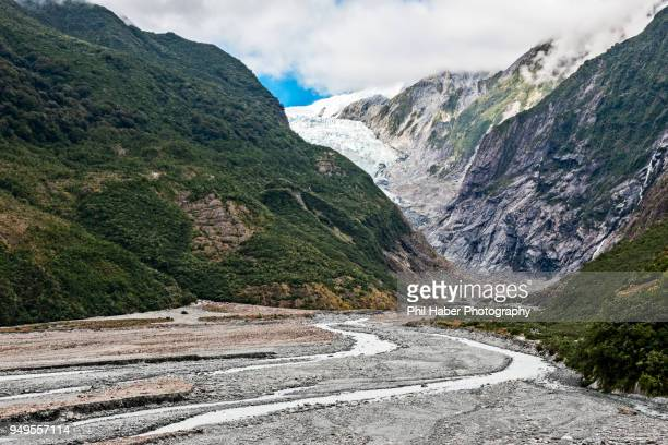 on a hike to the franz josef glacier - phil haber stock pictures, royalty-free photos & images