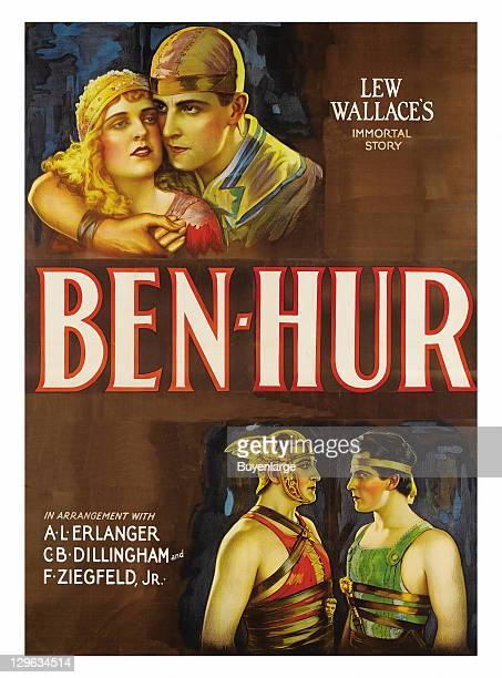on a poster that advertises the movie 'BenHur' 1925