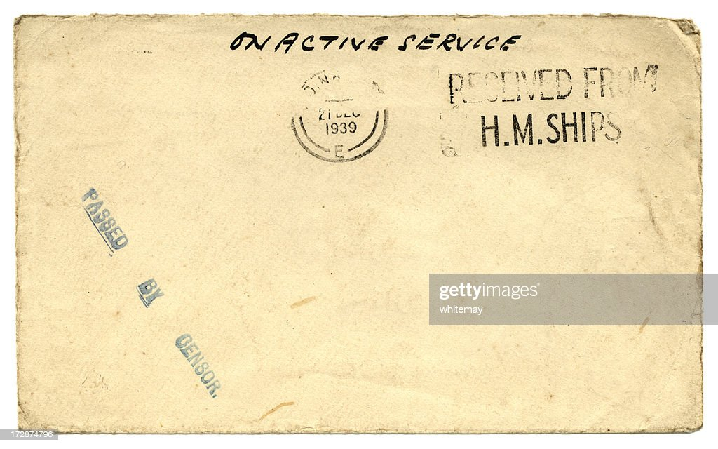On active service - World War Two envelope, 1939 : Stock Photo