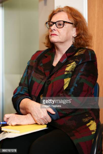 On Air Chief Executive Jane WrightsonÊlooks on during a media conference at Radio New Zealand on July 11 2018 in Wellington New Zealand A new $6...