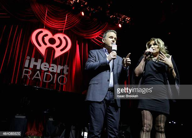 On air personalities Valentine and Delilah host the iHeartRadio Ultimate Valentine's Escape at Brooklyn Bowl at the LINQ in Las Vegas on February 21...