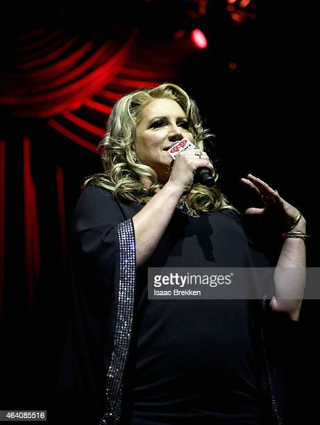On air personality Delilah hosts the iHeartRadio Ultimate Valentine's Escape at Brooklyn Bowl at the LINQ in Las Vegas on February 21 2015 in Las...