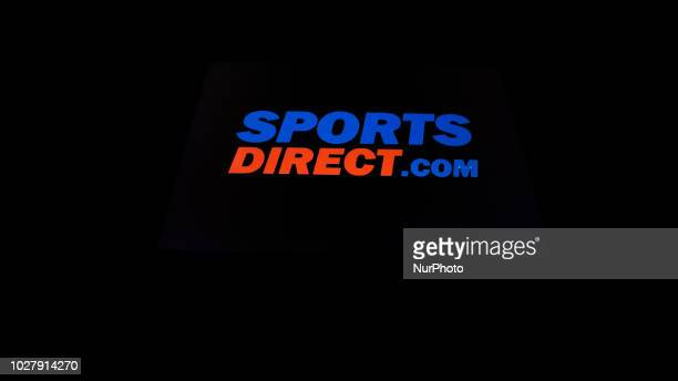On an IPad is pictured logo Sports Direct in Athens Greece 6 September 2018