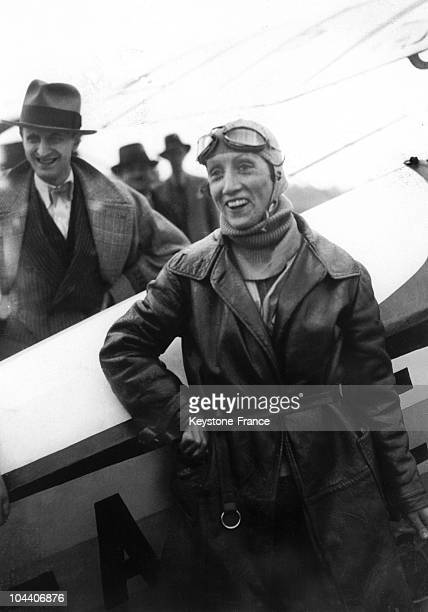On April 1 1921 French pilot Adrienne BOLLAND in Santiago after her crossing the Andes with a Caudron G3 She was the first woman to cross the Andes...