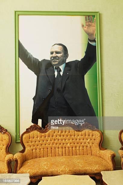 On April 15 in Mascara Algeria a giant photo of president Abd El Aziz Bouteflika