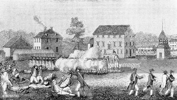 On April 19 British troops were met by American minutemen at Lexington, Massachusettes, were the first shots of the American Revolution were fired.
