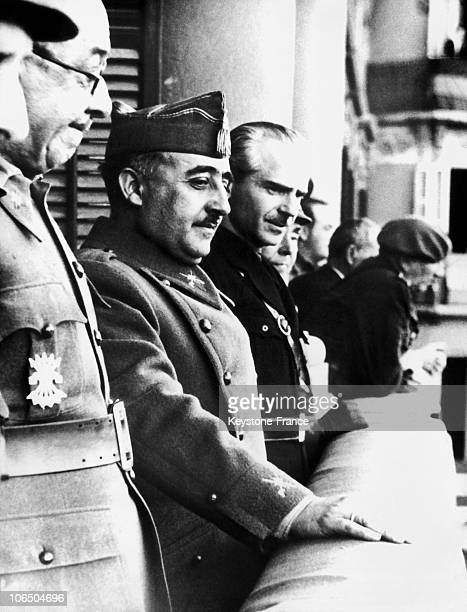On April 26Th The Leader Of The Nationalist Troops Surrounded By General Moscardo Former Defender Of The Alcazar Of Toledo And With Ramon...