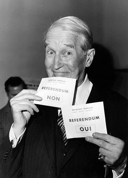 Maurice Chevalier And The Referendum On Regionalisation 1969