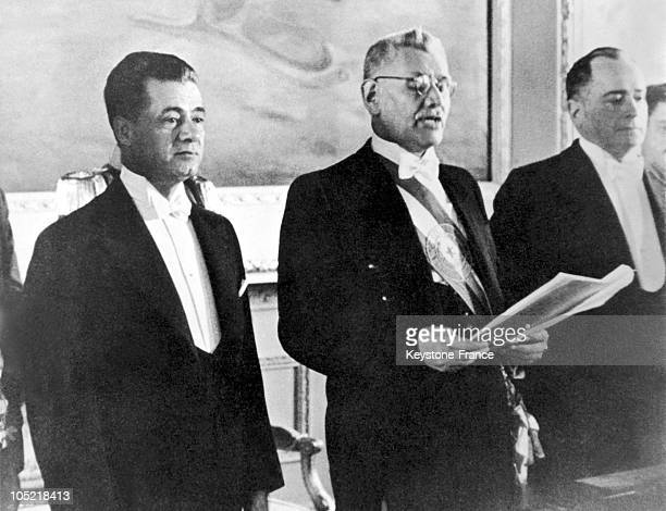 On August 15, 1939 Un Asuncion, Paraguay, The New President Of The Republic Of Paraguay, Jose Felix Estigarribia Insaurralde Succeeds Felix Paiva .