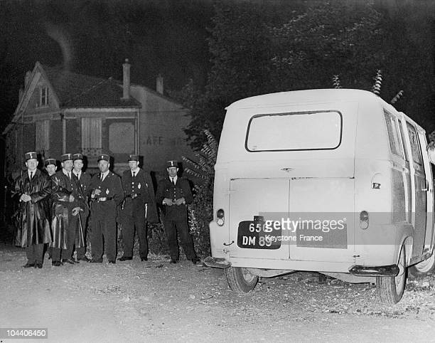 On August 23 a view of the yellow van which was used in the attack against the Head of State Charles DE GAULLE with a license plate from the Yonne...