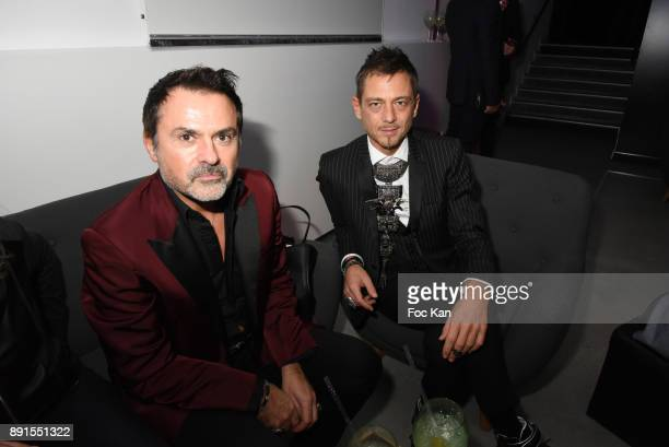 On Aura Tout Vu co designer Yassen Samouilov and PR Frederic Blanc attend the Star Wars Party at Le Saint Fiacre on December 12 2017 in Paris France