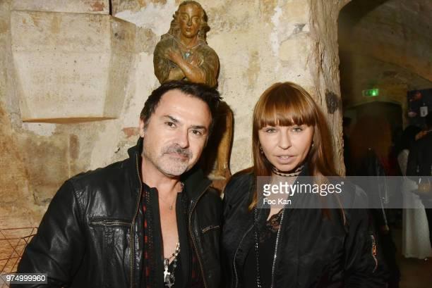 On Aura Tout Vu PR Frederic Blanc and russian journalist Olesya Okuneva attend the Archiman Men Body Care Launch Party at 22 Rue de L'Universite on...