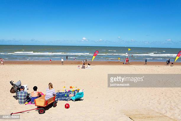On beach near Oostende