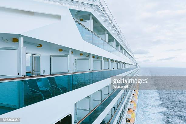on board of a cruise ship, mediterranean sea - kreuzfahrtschiff stock-fotos und bilder