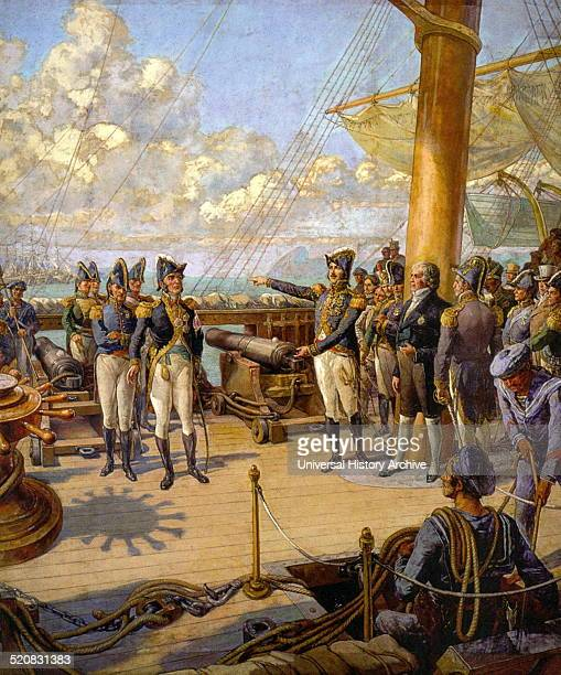 On board the frigate União Emperor Pedro I of Brazil orders Portuguese officer Jorge Avilez to return to Portugal after his failed rebellion on...