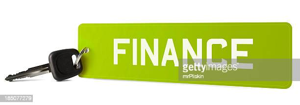 FINANCE on car registration plate keyring