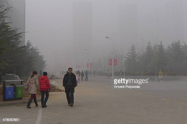 On Christmas Day heavy air pollution had settled over much of Henan Province, China.