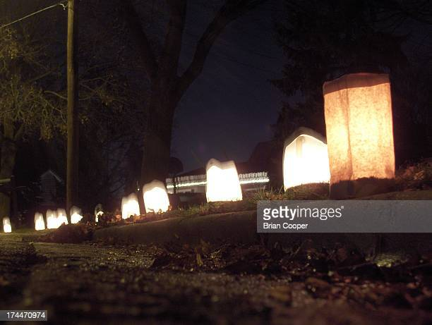 On Christmas Eve on Weymouth Dr. SE in Grand Rapids, Michigan everyone puts out luminaries that burn throughout the evening.