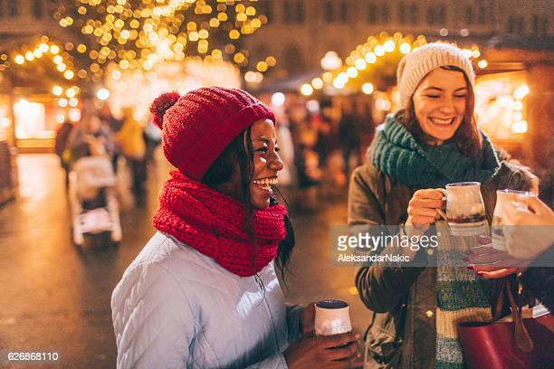 on christmas market - town hall square stock pictures, royalty-free photos & images