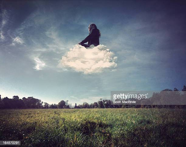on cloud - scott macbride stock pictures, royalty-free photos & images