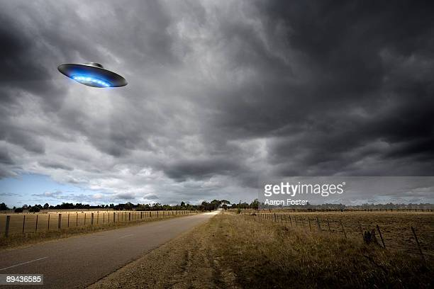 UFO on Country Road