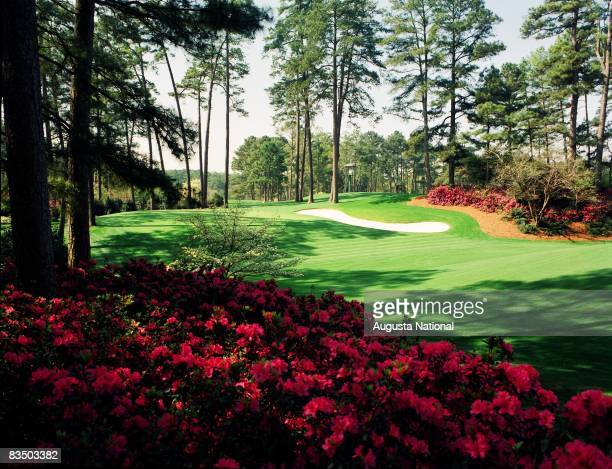 On course view of the 10th green at the Augusta National Golf Club in Augusta Georgia