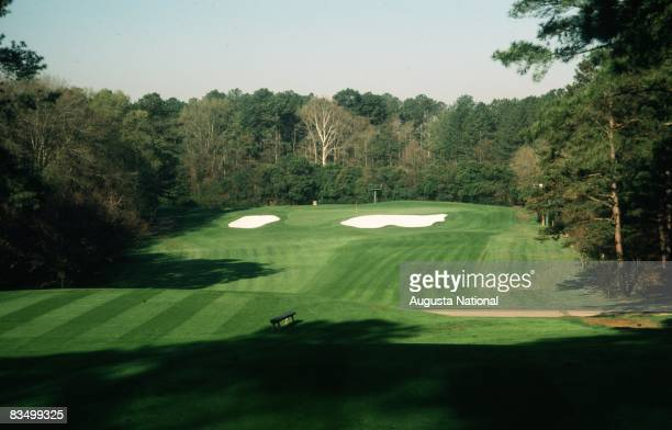 On course view of the fourth hole from the tee box during the 1978 Masters Tournament at Augusta National Golf Club in April 1978 in Augusta, Georgia.