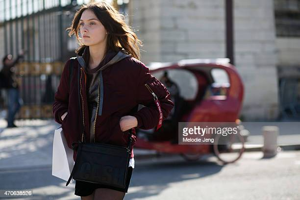 on Day 3 of Paris Fashion Week FW15 on March 5 2015 in Paris France