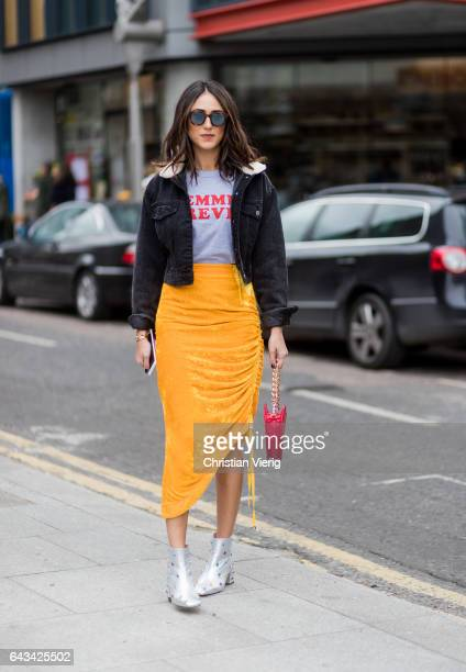 on day 3 of the London Fashion Week February 2017 collections on February 19 2017 in London England